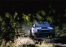 Stephane Sarrazin Hand Signed Subaru World Rally Team Photo 7x5 1.