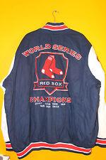 New MLB Boston Red Sox Champions cotton jacket mens 4XL