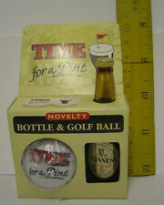 Ireland GUINNESS TIME FOR A PINT NOVELTY MINI BOTTLE AND GOLF BALL