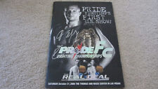 PRIDE FC REAL DEAL FEDOR EMELIANENKO SIGNED AUTOGRAPHED OFFICIAL PROGRAM ufc