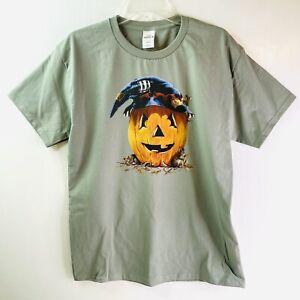 Halloween T Shirt Jack O Lantern  Adult Unisex Medium NEW Custom Orders Welcome