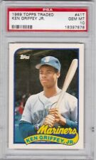 Lot of (5) Ken Griffey MARINERS HOF 1989 Topps Traded #41T Rookie Card rC PSA 10