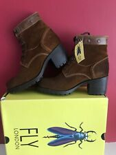 💖❤️Fly London Women's Lito106fly Boots Combat Size U.K. 5 BRAND NEW WITH BOX