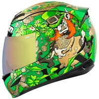 2018 Icon Airmada Lepricon Full Face DOT Motorcycle Helmet - Pick Size