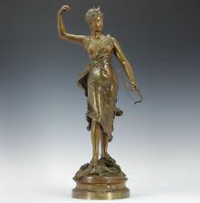 Henri Louis Levasseur (1853-1934) art nouveau bronze sculpture 1900 Diana chasse