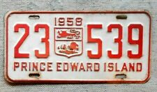 PRINCE EDWARD ISLAND License Plate Tag 1958 PEI - Low Shipping