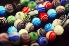 50Pcs 8mm Colorized Round Millefiori Glass Jewelry Beads Crafts Spacer Findings