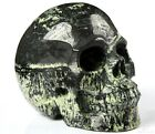 """5.0"""" FIREWORKS STONE Carved Crystal Skull, Realistic, Crystal Healing"""