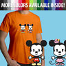 Disney Cuties Mickey Minnie Mouse Kawaii Cartoon Unisex Mens Tee Crew T-Shirt