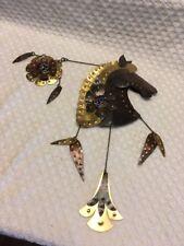 Rare Horse Metal Wall Art Sculpture Rustic Decor Brown Copper/Brass Hanging