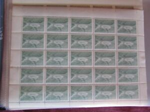 CHILE 1969 Full sheet Rapel Hidroelectrica MNH eº0,40 green