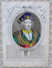 Gravure Originale XVIIème par Nicolas Ier de Larmessin - Roi Dagobert II