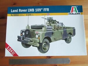 "Italeri 1/24 - Land Rover LWB 109"" FFR model kit.  British Army Military. NISB"