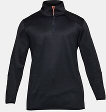 Under Armour UA Uomo Coldgear REATTORE in pile 1/4 Zip Top-Large-Nero