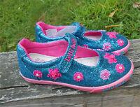 Lelli Kelly USA Blue & Pink Glitter Girls Mary Janes Shoes NIB  8 9 9.5 Gift