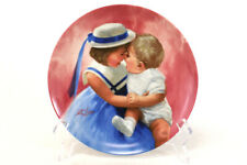 Vintage 1988 MOTHERS ANGELS Collector Plate Donald Zolan - Daughter Son Smiling