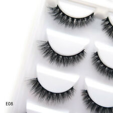 5Pairs 3D Mink False Eyelashes Black Silky Eye End Stretched Lashes Daily Makeup
