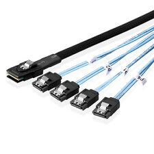1m CAVO DI CONNESSIONE SAS MINI SAS sff8087 a 4x SATA 7 pin in avanti evadere Kabe