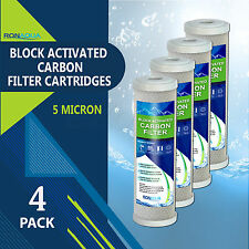 """4PK- 9.875"""" x 2.5"""" Coconut Shell Carbon Block Water Filter for Whole house & RO"""