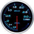 DEFI LINK METER ADVANCE BF TURBO BOOST GAUGE -3 BAR 60MM DF14703 BLUE