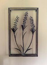 3D Wandbild Blumen aus Metall, 40x66 cm, Schwarz Vintage Wanddekoration Hygge