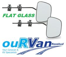 PAIR of Milenco Grand Aero 3 FLAT Glass Caravan Towing Mirror M-2073
