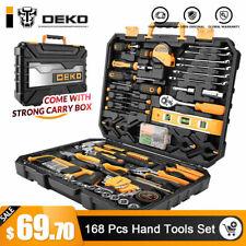 Dekopro 168pcs Hand Tool Set Standard Socket Wrench Screwdriver Knife