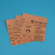 1000 Snacktaschen Hamburgertaschen Dönertüten Zeitungsmotiv 15x16cm Braun Kraft