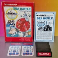 Sea Battle - Intellivision Cartridge Box Manual Tested Complete