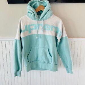 SUPREME Ice Blue Blocked Hoodie Sweatshirt MEDIUM Spirit Jersey Style Logo