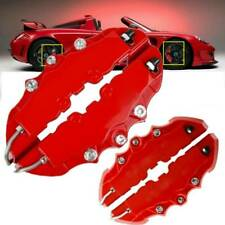 4PCS 3D Red Car Universal Disc Brake Caliper Covers Front & Rear Accessories