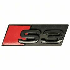 Audi S3 Gloss Black Grille Badge Emblem Set - Fits Honeycomb - Black Out Stealth