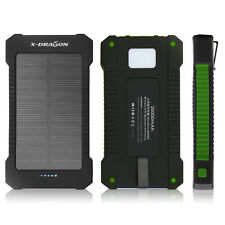 US 20000mAh Solar Power Bank 2 USB LED External Battery Charger For Cell Phone