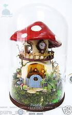 DIY Handcraft Miniature Project Kit Dolls House Sound Light The Forrest Cottage