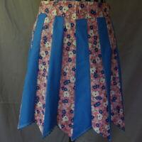 Half Apron Vintage Blue Pink Floral Handmade Patchwork