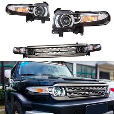Toyota FJ Cruiser 2011-2016 LED Headlights Head Lights with Grille Assembly