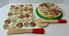 Melissa and Doug Wood Wooden Pizza cutter toppings