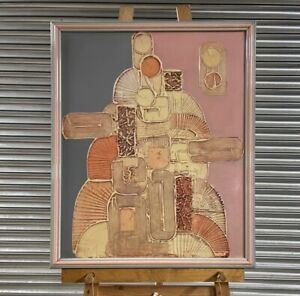 1980's Modernist Abstract Painting Composition By Richard Price