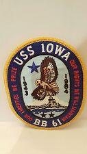 Navy USS Iowa BB-61 Color Patch