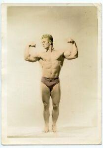 Bodybuilder ERIC PEDERSEN vintage 5x7 photo Mr. California '40s GAY INTEREST