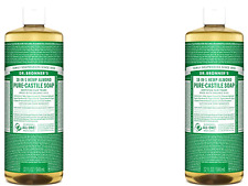 2 x 946ml DR BRONNERS Pure Castile Liquid Soap - Hemp Almond ( Bronner's )