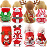 Pets Dog Cat Xmas Hoodie Clothes Costumes Cute Jacket Coat Holiday Apparels XS-L