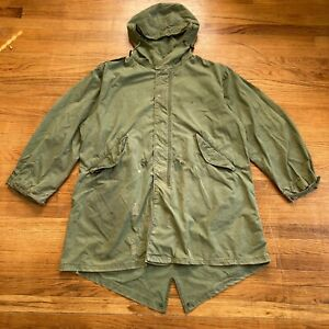 Vintage 1956 US Army FISHTAIL PARKA SHELL Size Medium As-Is