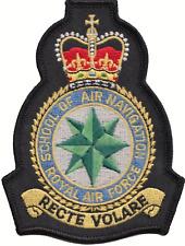 SCUOLA DI AIR NAVIGATION ROYAL AIR FORCE RAF STEMMA Modulo PATCH RICAMATO