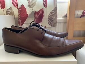 Dolce & Gabbana D&G Mens Brown Pointy Shoes Uk 11