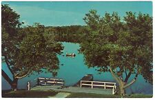 Lost Lake Woods Club, MI Badger Lake, Lincoln, chrome postcard