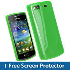 Green Glossy TPU Gel Case for Samsung Wave 3 Bada S8600 GT-8600 Skin Cover