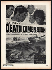 DEATH DIMENSION__Original 1978 Trade print AD / promo__JIM KELLY__GEORGE LAZENBY
