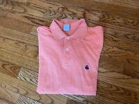 Men's Brooks Brothers Orange Performance Slim Fit Polo Shirt, Size Medium