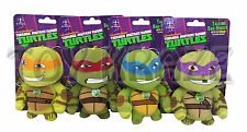 "TEENAGE MUTANT NINJA TURTLES PLUSH TALKING KEY CHAIN SET! TURTLE BROTHERS 4"" NEW"
